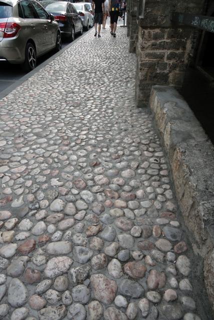 Sidewalk in Sarajevo, Bosnia